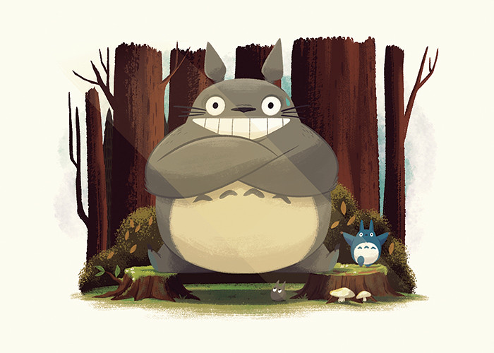 Totoro Splits by Christopher Lee