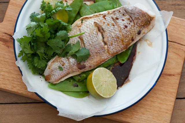 Fast Roast Fish & Snow Peas-2