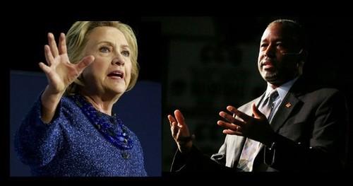 Hillary Clinton y Ben Carson, a la cabeza de la carrera presidencial