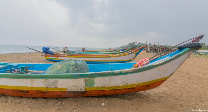 Fishing Boats at Auroville Beach