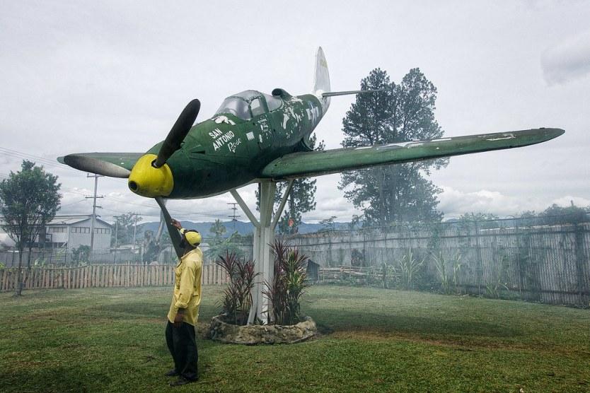 Part of our tour at the J.K. McCarthy Museum, Goroka.
