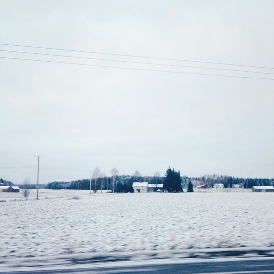 Snow, finally