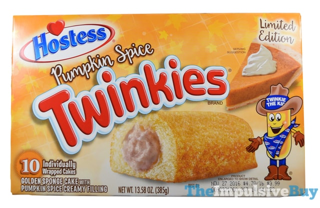 Hostess Limited Edition Pumpkin Spice Twinkies