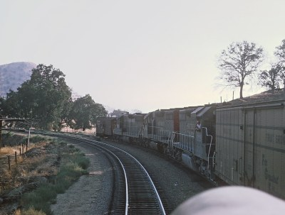 More of Roger's Cab Ride in ATSF 306L Up to the Loop -- 5 Photgos