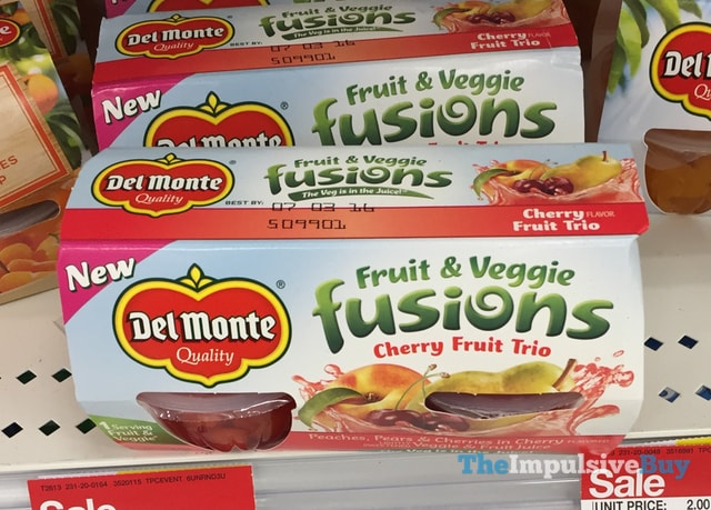 Del Monte Fruit & Veggie Fusions Cherry Fruit Trio