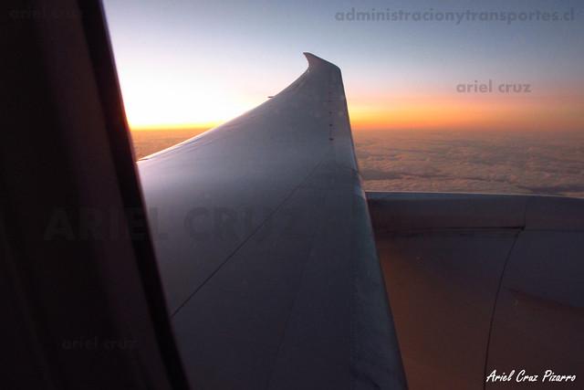 Atardecer en vuelo LAN842