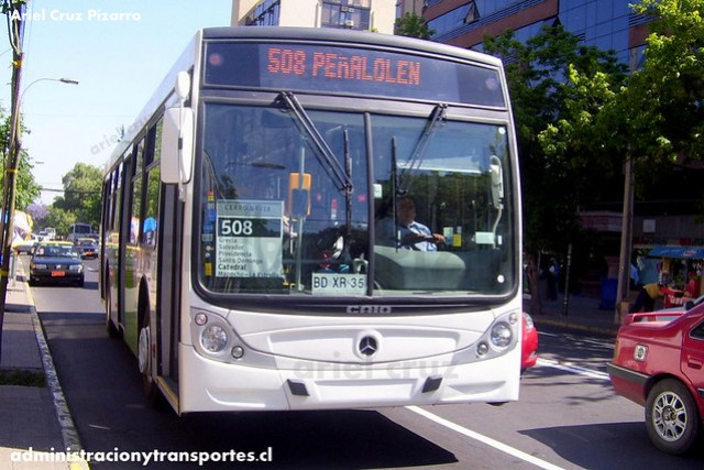 Transantiago - Buses Metropolitana / Metbus - Caio Mondego H / Mercedes Benz (BDXR35)
