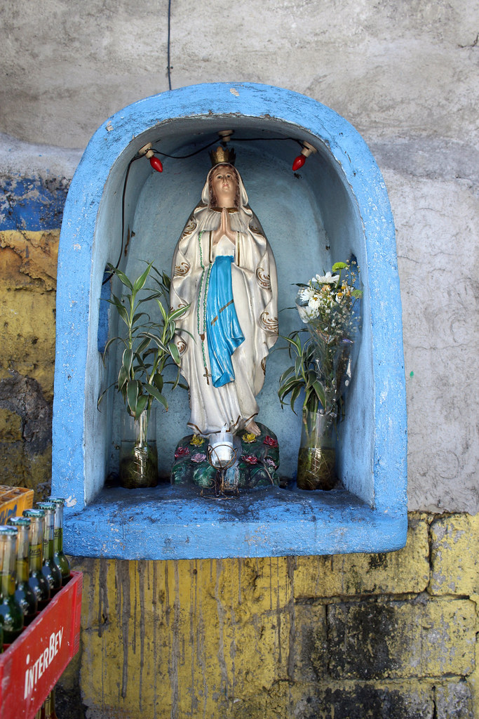 small blue virgin mary grotto 2