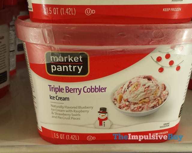 Market Pantry Triple Berry Cobbler Ice Cream