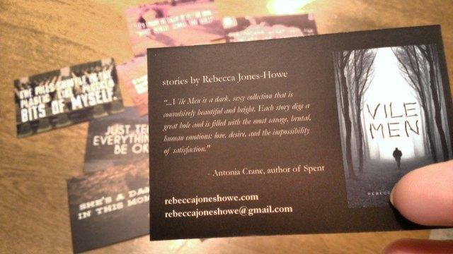 VILE MEN Promo Cards Back