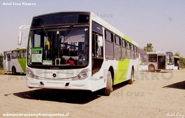 Transantiago - Buses Metropolitana / Metbus - Caio Mondego H / Mercedes Benz (BFKB79)