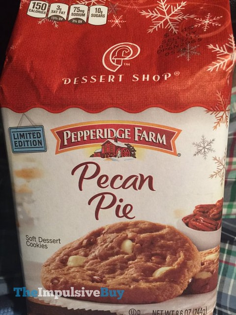 Pepperidge Farm Limited Edition Dessert Shop Pecan Pie Soft Dessert Cookies