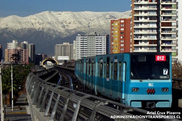 Metro de Santiago - Alsthom NS74 P3012 - Pedrero / Mirador (L5)