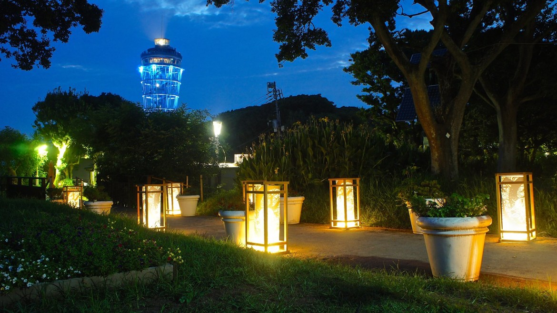 Enoshima Candle - Night time lantern light up in summer