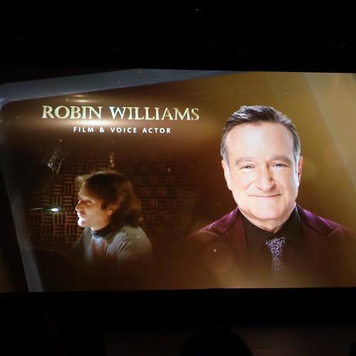 ロビン・ウィリアムズに対してはひときわ長く、そして大きな歓声が上がっていました。愛されていた俳優でした。