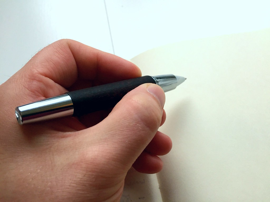 Faber-Castell E-motion rollerball pen (dark brown pear-wood)