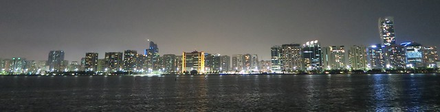 abu dhabi skyline from marina