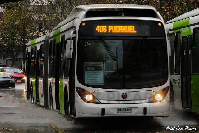 Transantiago - Express de Santiago Uno - Marcopolo Gran Viale / Volvo (WA9489)