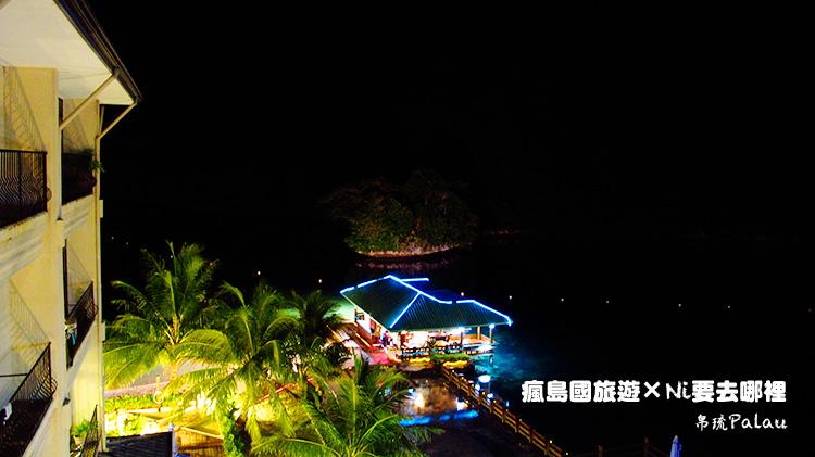 08百悅飯店房外夜晚風景