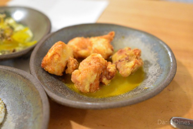 fried chicken karaage with oyster miso