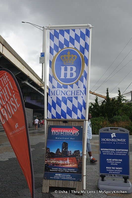 Watermark Bar, Oktoberfest, Oktoberfest 2015 NYC, Pier 15, South Seaport, East River