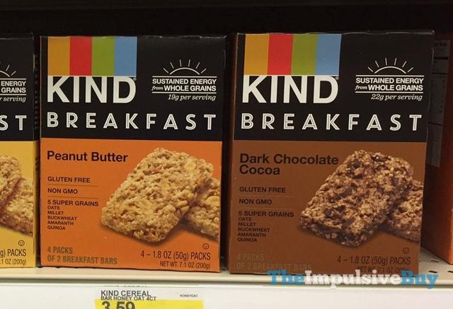 Kind Peanut Butter and Dark Chocolate Cocoa Breakfast Bars