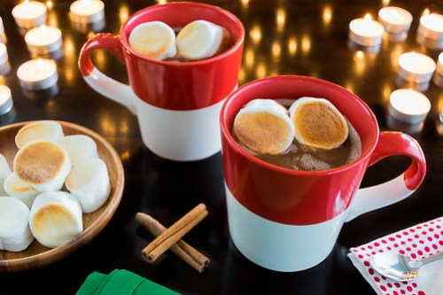 hot nutella with toasted marshmallows