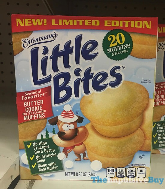 Limited Edition Entenmann's Seasonal Favorites Little Bites Butter Cookie Muffins