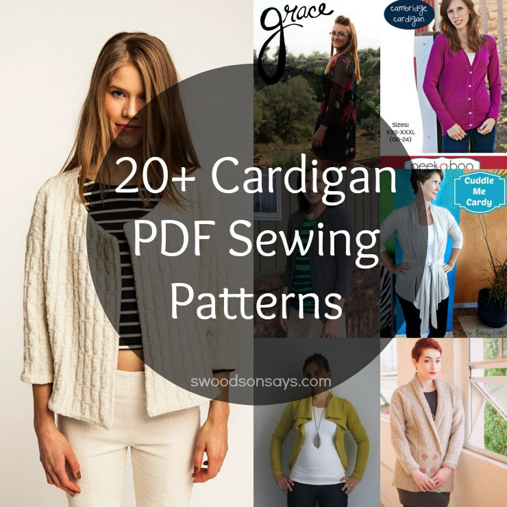 pdf cardigan sewing patterns