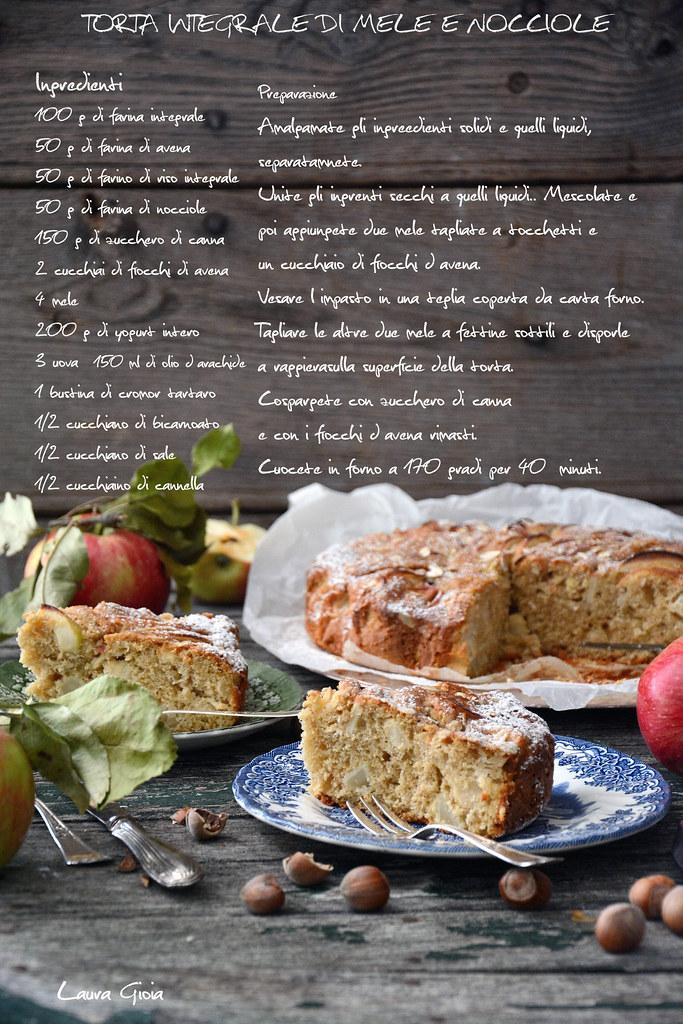 Torta integrale di mele e nocciole