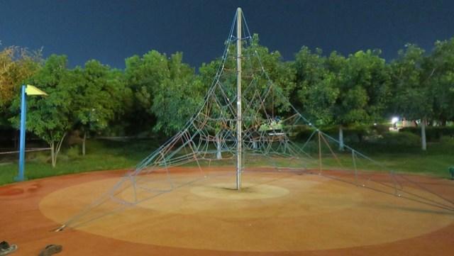 climbing net lake park