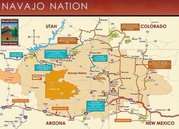 Mapa Antelope Canyon