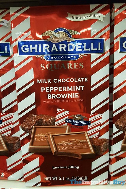 Ghirardelli Limited Edition Milk Chocolate Peppermint Brownie Squares