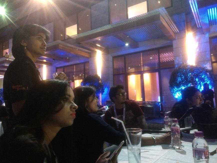 Enjoying the evening, Novotel - Hyderabad indiblogger
