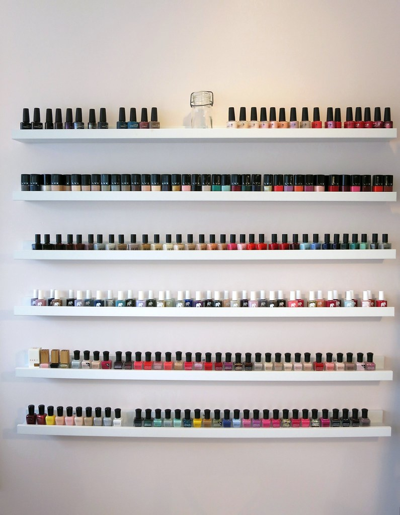 nail polish rack storage