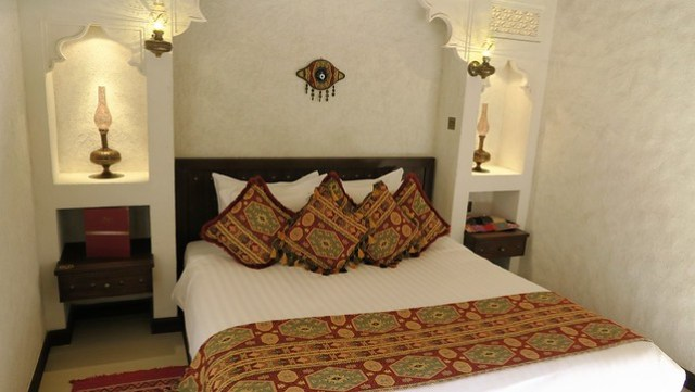 arabian nights village mud hut bedroom