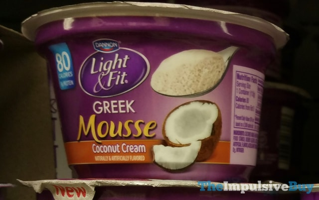 Dannon Light & Fit Coconut Cream Greek Mousse