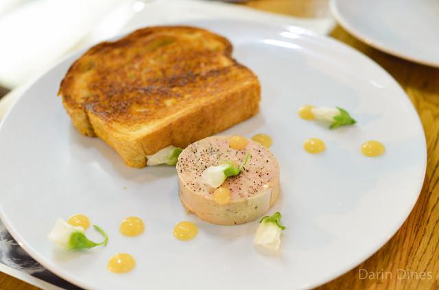 Foie Gras Terrine. stumptown coffee. spices. lemon paste. sea salt. brioche.