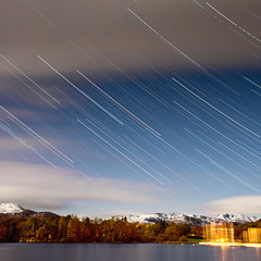 Star trails over the #LakeDistrict