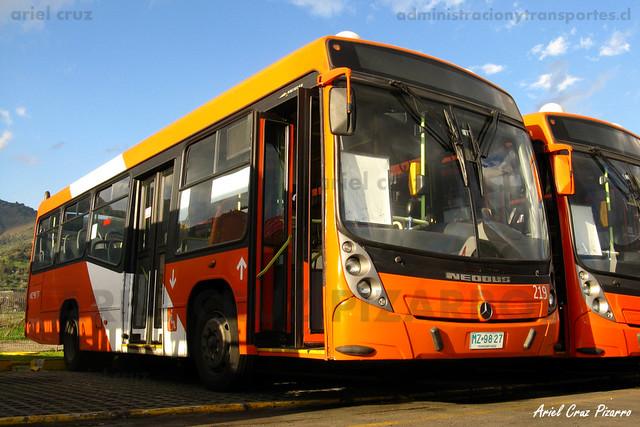Transantiago - Redbus Urbano - Neobus Mega LE / Mercedes Benz (MZ9827) (219)