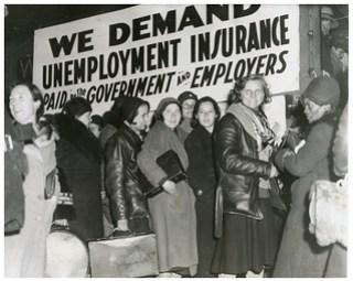 Hunger March women prepare to board truck: 1932