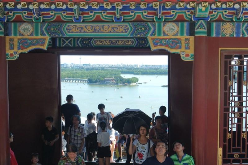 Turistas en el Palacio de Verano