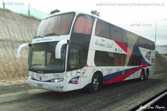 MásBus Chile - Los Hornos - Marcopolo Paradiso 1800 DD / Scania (CTHS68)