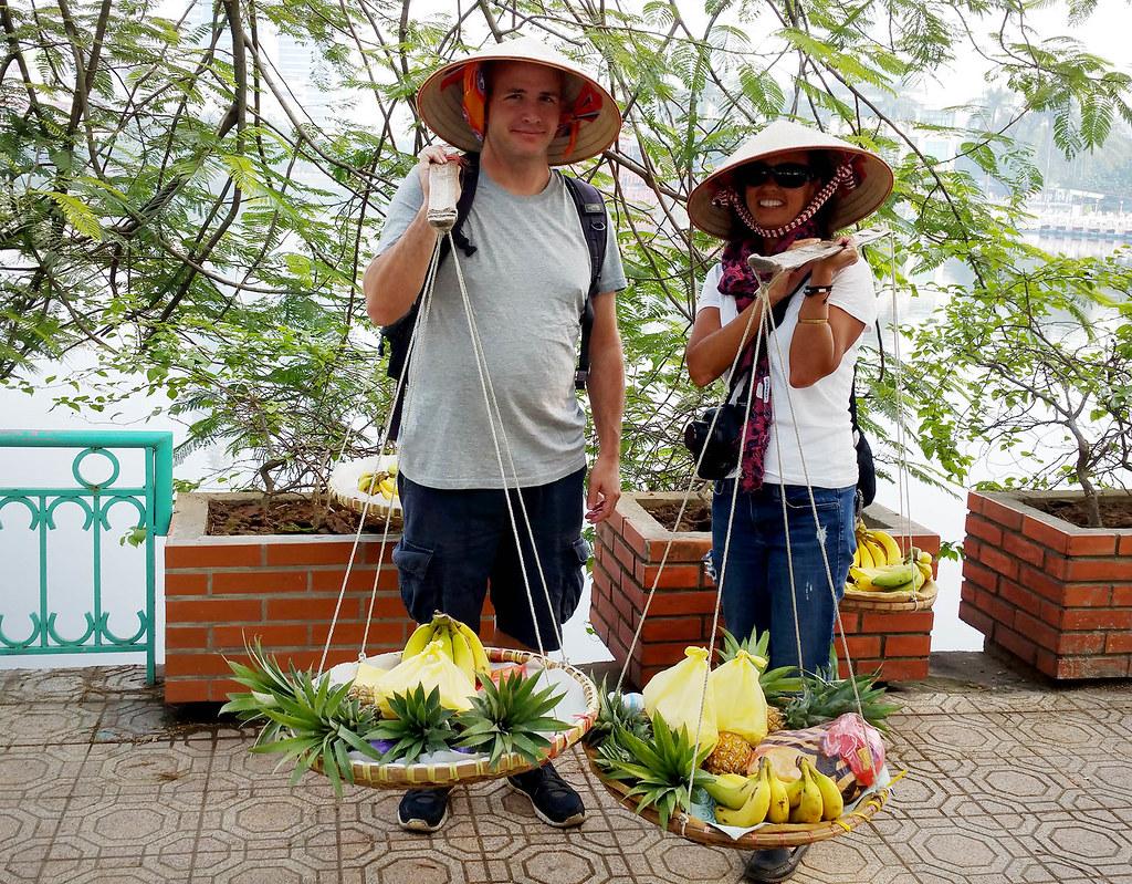 The fruit ladies got us.
