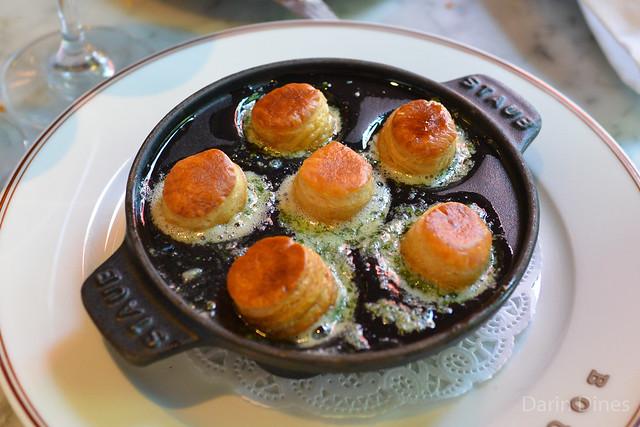 Escargots à la Bourguignonne Burgundy snails, parsley-garlic butter & Bouchon Bakery puff pastry