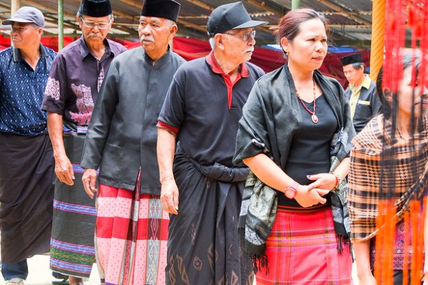 Funeral procession. Tana Toraja