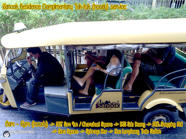 iSanook Residence Tuktuk service