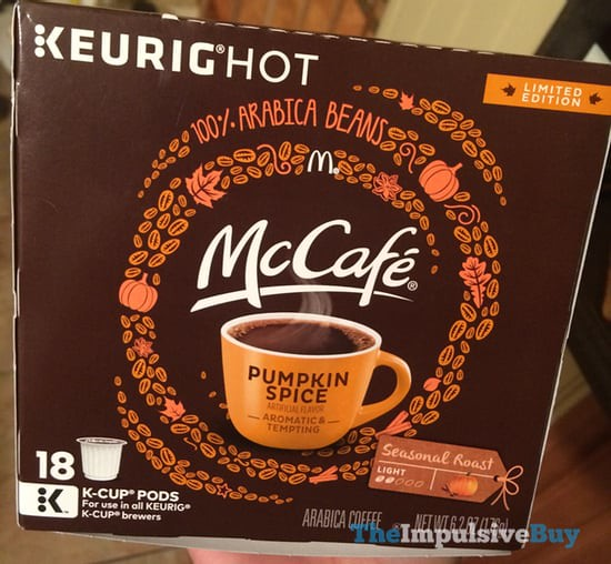 McDonald's McCafe Limited Edition Pumpkin Spice K-Cups