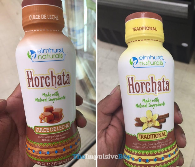 Elmhurst Naturals Dulce de Leche and Traditional Horchata
