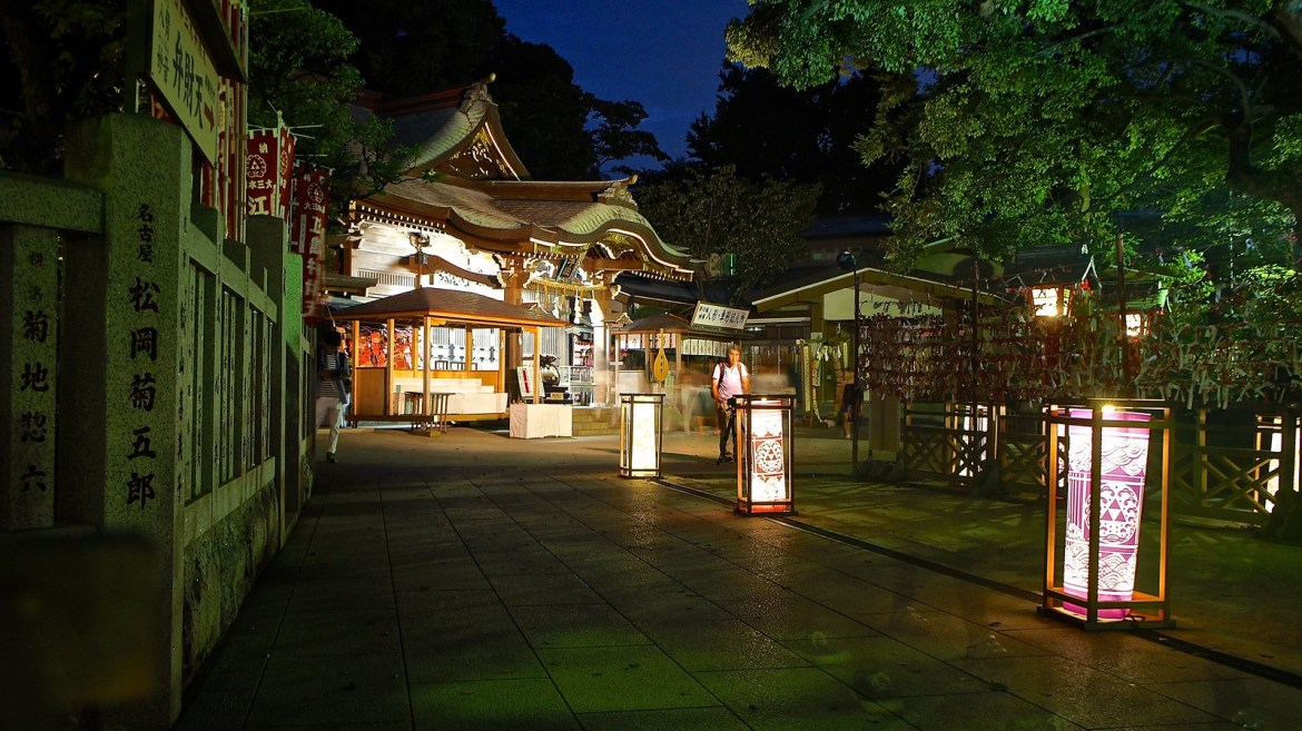 Enoshima Candle - Night time lantern light up in summer